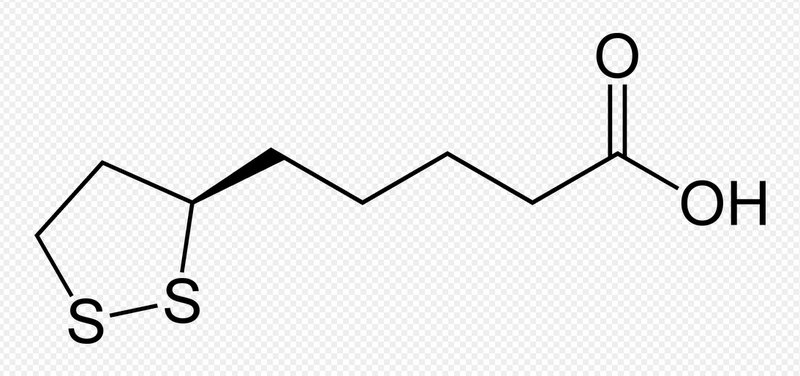 Az alfa- liponsav kémiai képlete