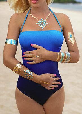 Blue Marlin Goddess Tattoos luxusminőségű tetoválás matrica