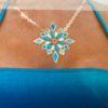 Blue Marlin Goddess Tattoos luxusminőségű tetoválás matrica, nyaklánc