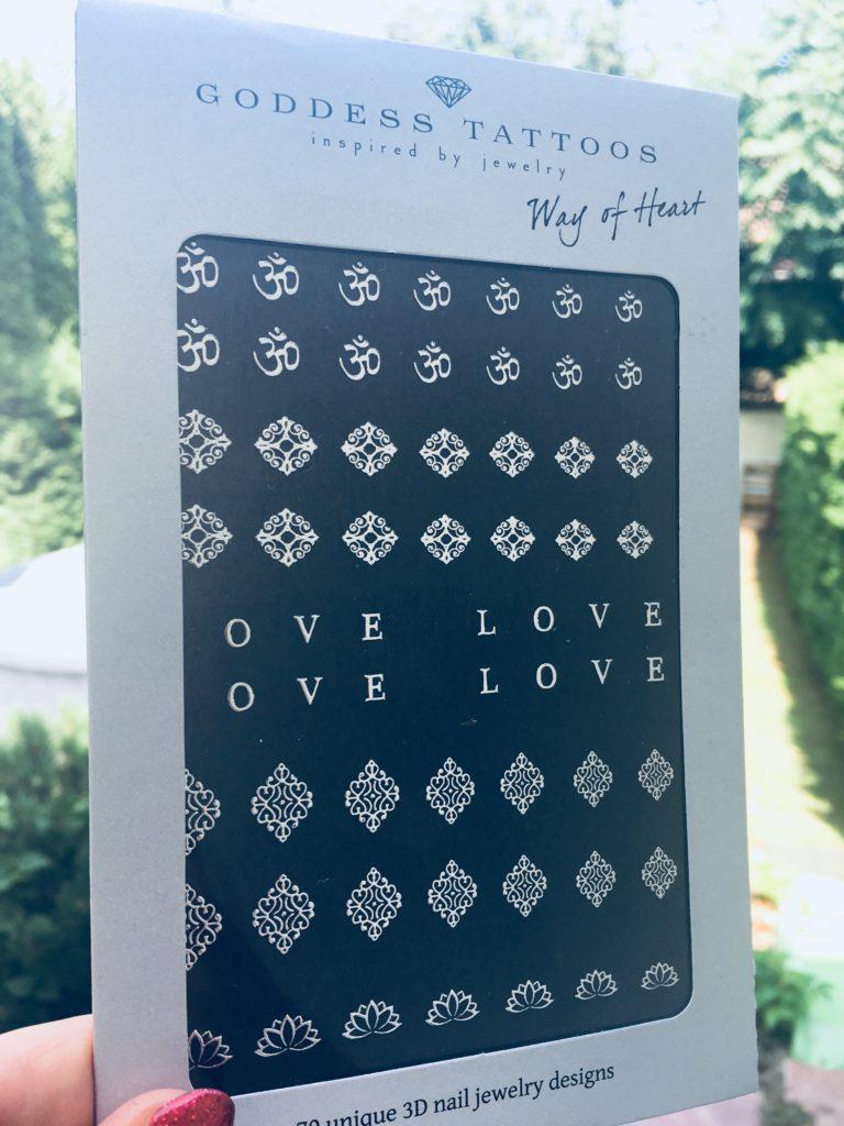 Way Of heart ezüst körömmatrica